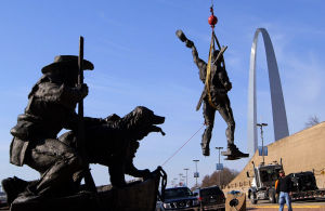Video: Lewis & Clark statue move to higher ground