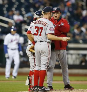 MLB notes: Ailing Strasburg leaves game