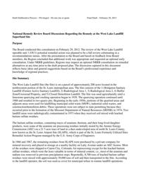 National Remedy Review Board report