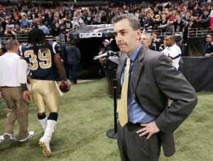 Rams exec Demoff has fainting scare