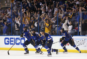 Blues win again in overtime