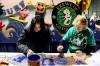 Krewe of Calypseaux members build their Mardi Gras float