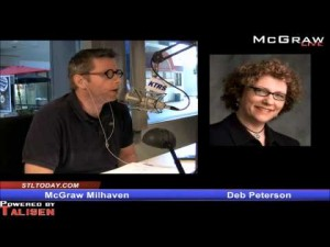 Deb Peterson surprises herself and questions Pres. Obama