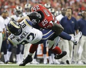 Rams dumped by Falcons 31-24