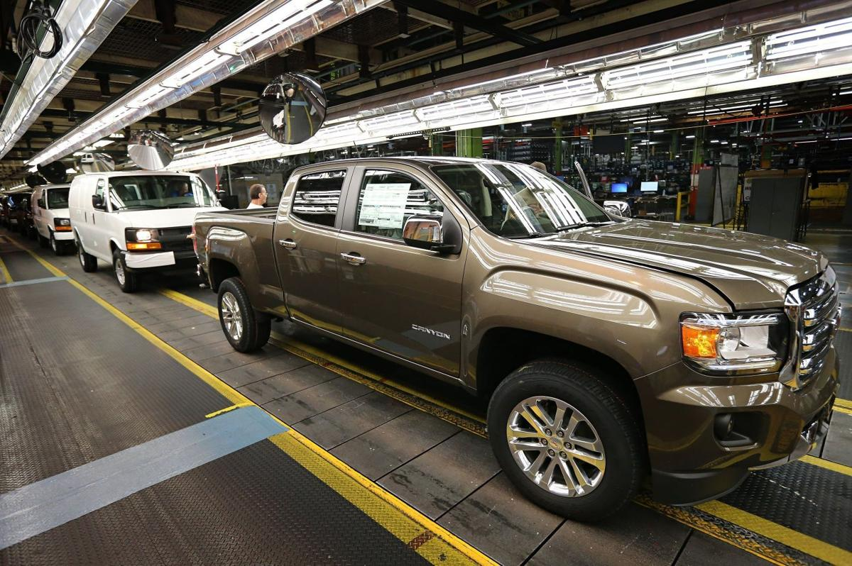 pickup truck being manufactured at the general motors wentzville. Cars Review. Best American Auto & Cars Review