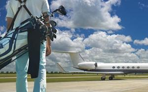 Today I'd go ... golfing via a private jet tour