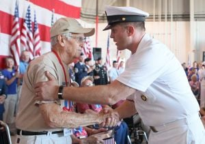 Honor Flight veterans welcomed home