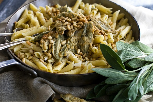 Fried Sage and Parmesan Penne