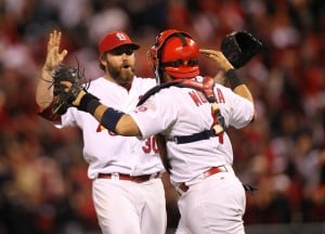 Cardinals v Giants in Game 3 of the NLCS