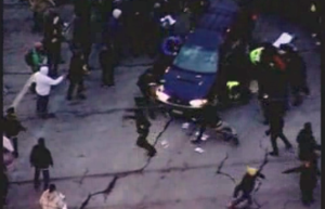Video: Car crashes into Minneapolis protesters