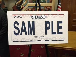 Missouri gets new license plates celebrating bicentennial for Missouri department of motor vehicles jefferson city