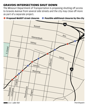 MoDOT proposes shutting off access to Gravois from several side streets