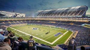 See the latest version of the proposed St. Louis riverfront stadium
