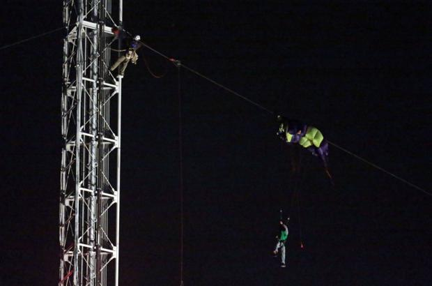 Parachutist is rescued from radio tower in south St. Louis County