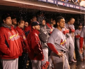 The Cards v the Giants in Game 2 of the NLCS