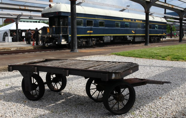 Vintage train car rolls into union station business for Railroad stations for sale