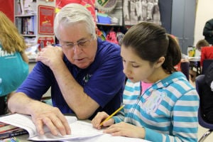 Retiree brings new level of volunteering to schools