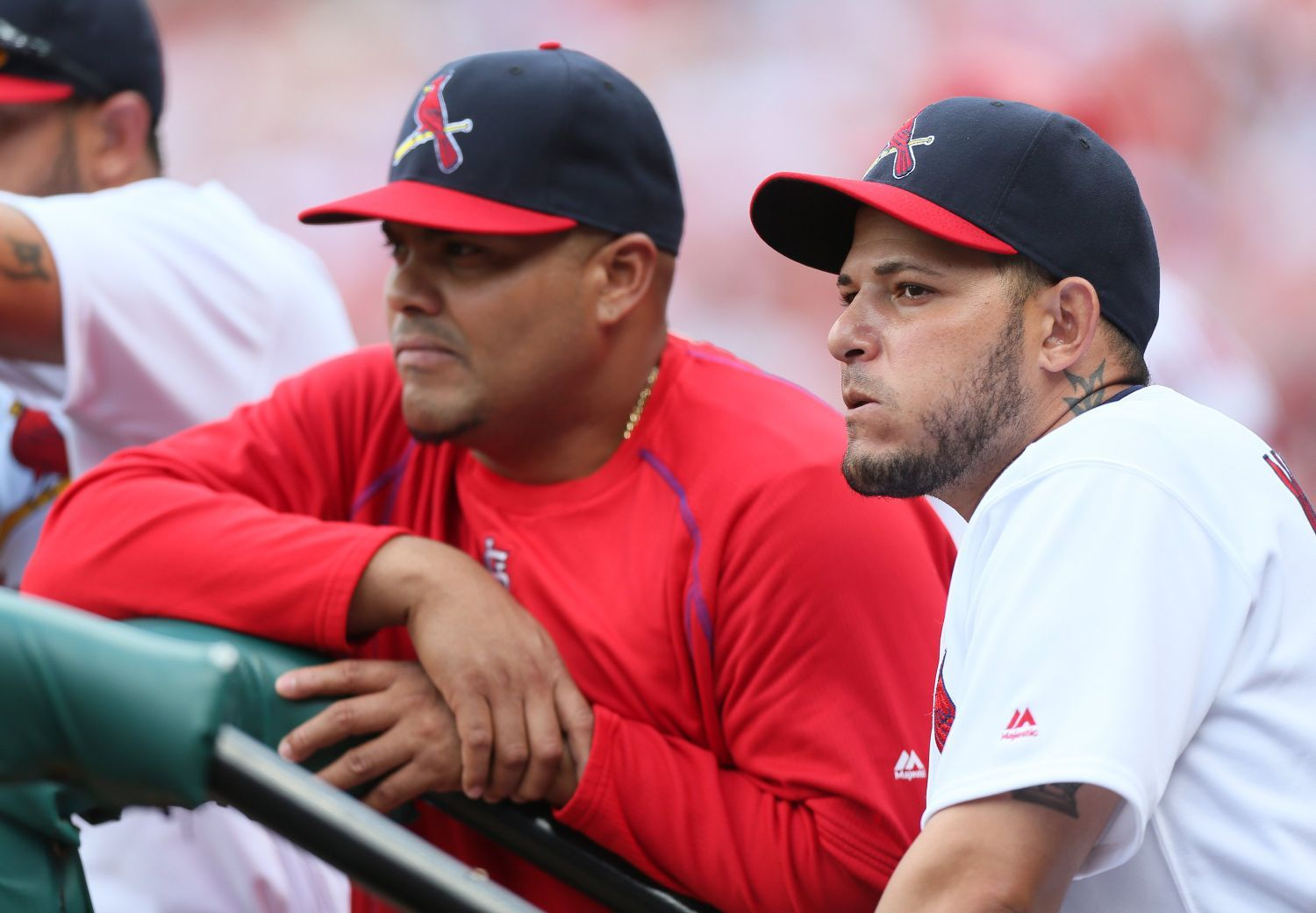 Pham returns to Cards lineup, Pena catches Leake