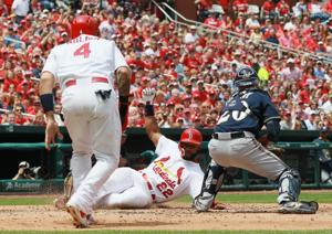 Modelski's game blog: Cards strike early, beat Brewers 7-4