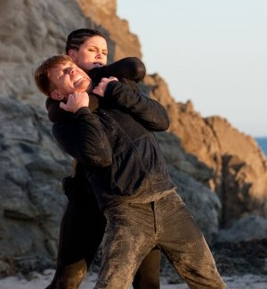 ... Gina Carano and Ewan McGregor are shown in a scene from