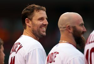 Pierzynski behind plate for Lackey debut