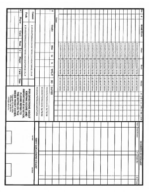Universal image for printable soccer stat sheet