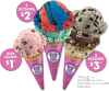 Scoop Fest at Baskin-Robbins, scoops for $1
