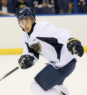 Fabbri flashes on-ice skills at Blues camp