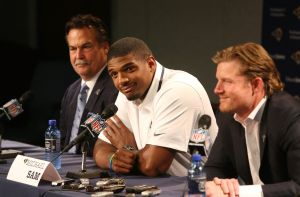 Gordon: Michael Sam goes to work amid hoopla