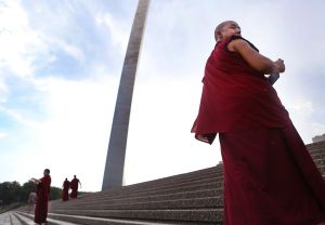 Tibetan monks in St. Louis