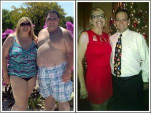 Couple's togetherness pays off with the loss of 300 total pounds