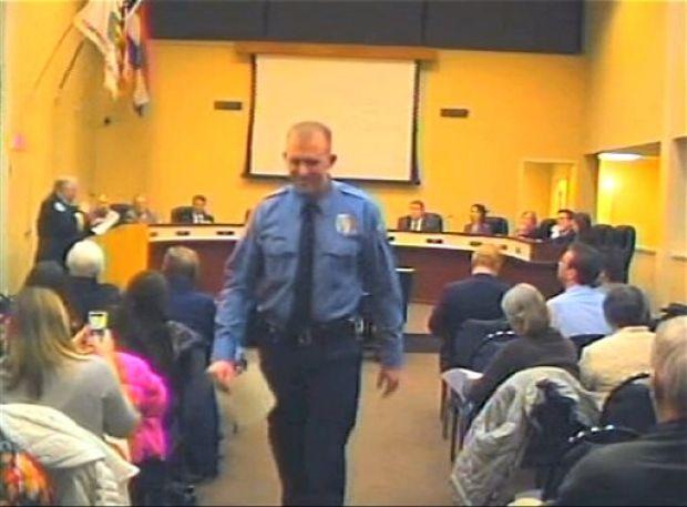 Little trail of Ferguson police officer behind the gun