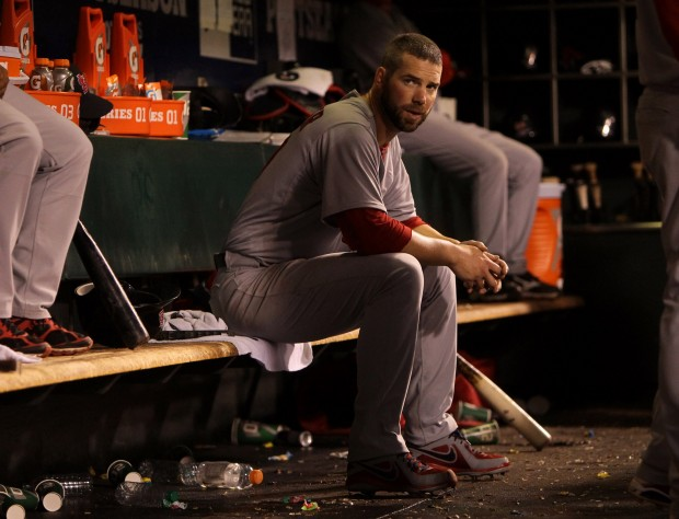 The St. Louis Cardinals vs. the San Francisco Giants in Game 2 of the NLCS