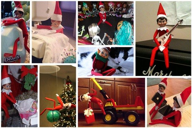30 creative ideas for the Elf on the Shelf
