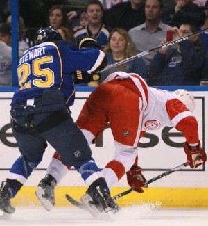 NHL Suspends Blues' Stewart For Three Games