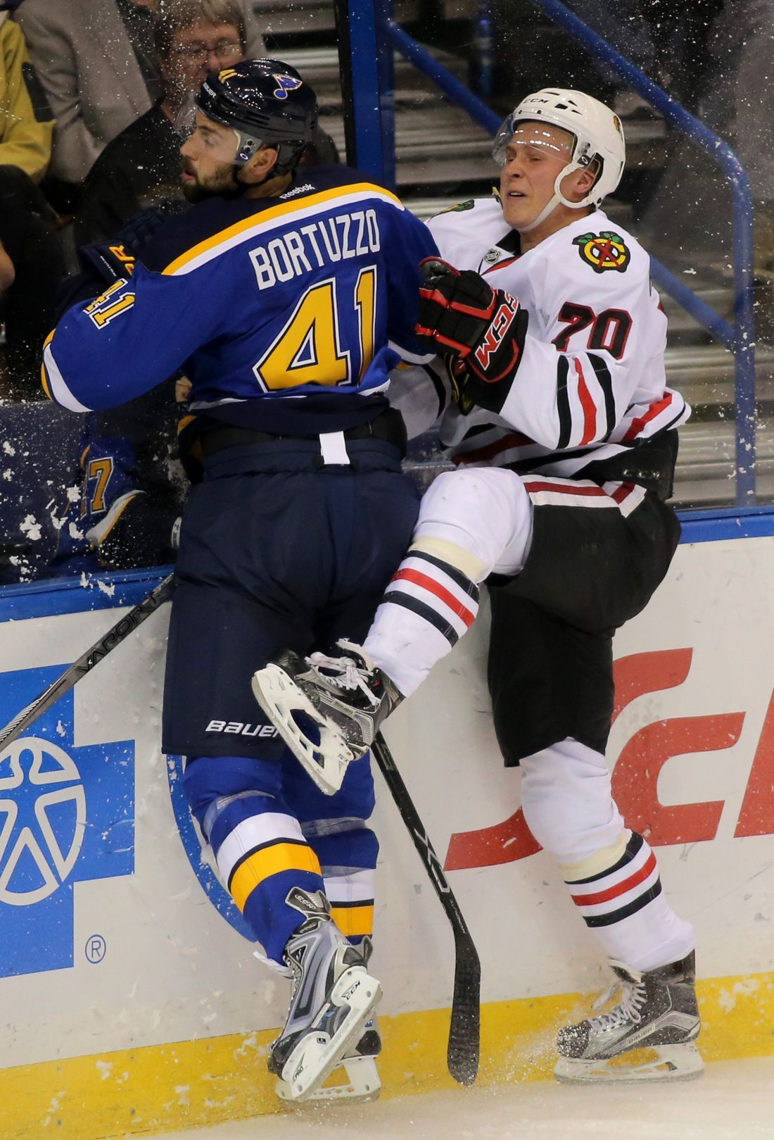 Blues get Bouwmeester back, lose Bortuzzo