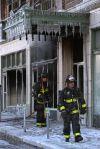 Firefighters battle 4-alarm blaze on Washington Avenue