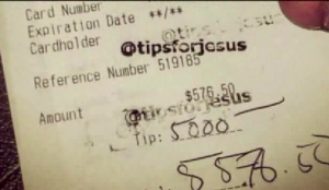 'Tips for Jesus': Mystery man leaving massive tips across the US