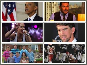 Today's six-pack: Obama's showdown, Phelps' girlfriend and a country star's announcement