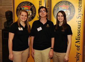 Three local students present research posters at state Capitol