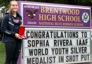 Brentwood's Rivera makes history in globetrotting summer
