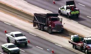I-270 lanes closed after fatal dump truck crash in Hazelwood