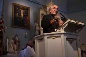 Archbishop of Reims visits Old St. Ferdinand Shrine
