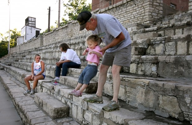 Herculaneum rallies to save old stone bleachers news for Garage seat fontaine