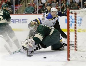 Blues get the jump on Minnesota in Game 4