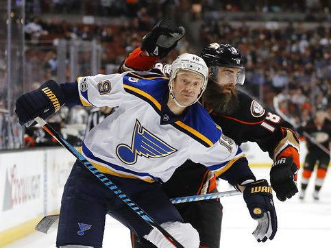 Blues lack intensity as winning streak ends at five games