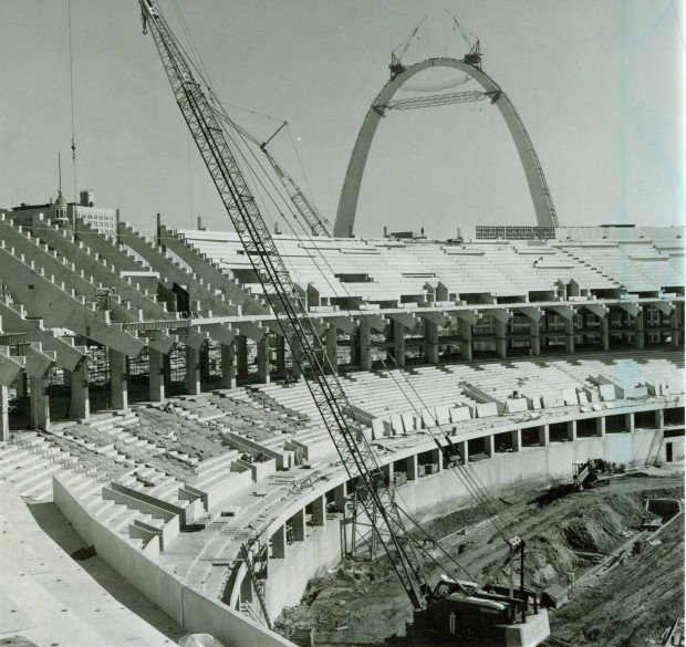 A Look Back In 1966 New Busch Stadium Was A Tub