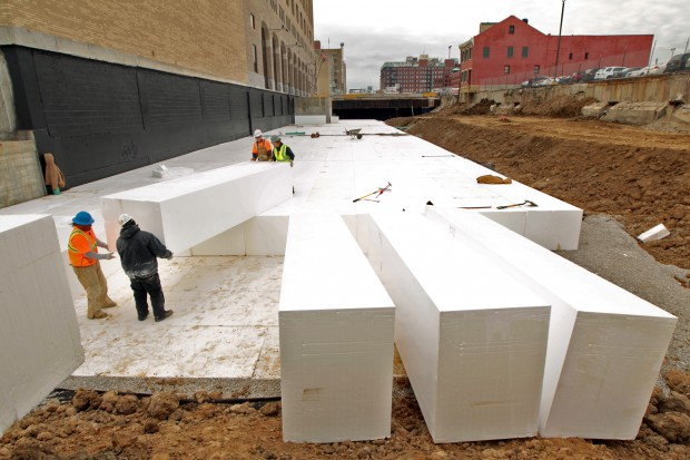 Tucker boulevard construction news for Foam block house construction