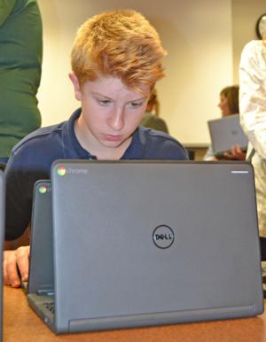 Students prepare for Chromebooks