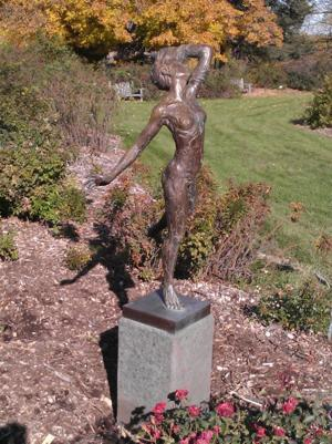 Arboretum reports theft of sculpture